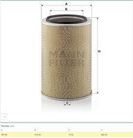 Фильтр воздушный Mann C331465/1( аналог AF26204)