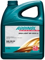 ADDINOL GIGA LIGHT MV 0530 LL - SAE 5W-30