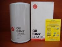 Фильтр масляный Sakura C5102/P554407/2654407/ F28/26500 (Terex)/LF699/ST-JX4407/7W-2326